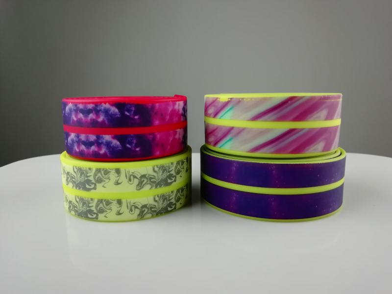 印花包胶织带